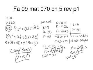 Fa 09 mat 070 ch 5 rev p1