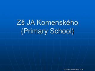 Zš JA Komenského (Primary School)