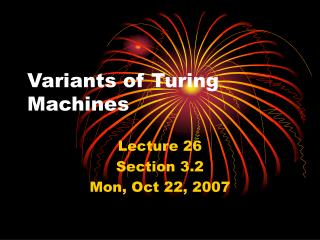 Variants of Turing Machines