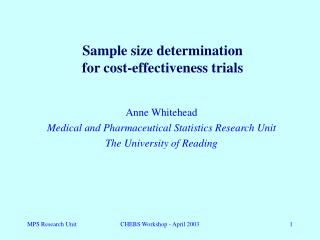 Sample size determination  for cost-effectiveness trials