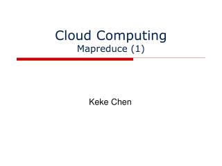 Cloud Computing Mapreduce (1)