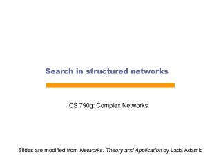 Search in structured networks