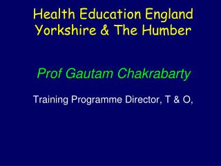 Health Education England  Yorkshire & The Humber