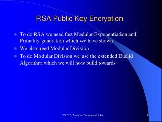 RSA Public Key Encryption