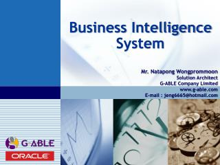 Business Intelligence System
