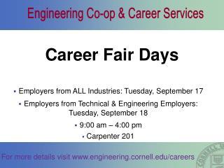 Career Fair Days
