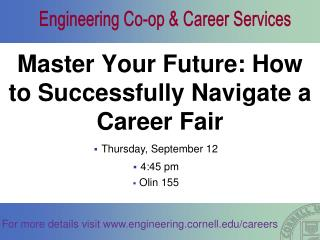 Master Your Future: How to Successfully Navigate a Career Fair