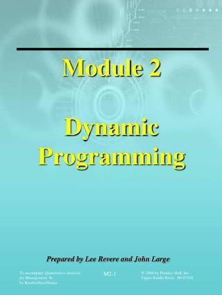 Module 2 Dynamic Programming
