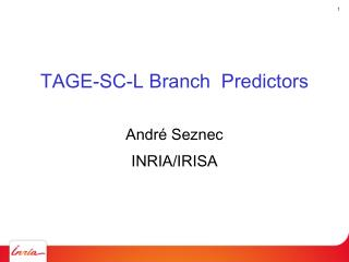 TAGE-SC-L Branch  Predictors
