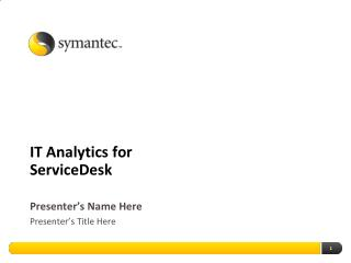 IT Analytics for ServiceDesk