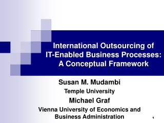 International Outsourcing of  IT-Enabled Business Processes: A Conceptual Framework