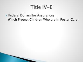 Title IV-E