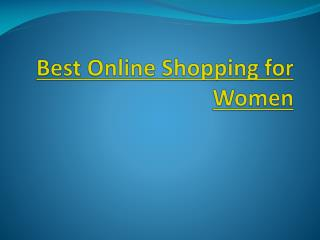 Best Online Shopping for Women