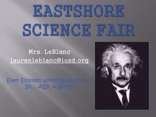 Eastshore Science Fair