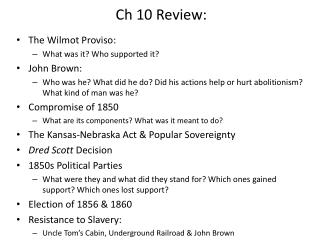 Ch 10 Review: