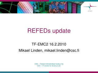 REFEDs update