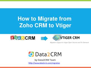 How to Migrate Zoho to Vtiger with Data2CRM