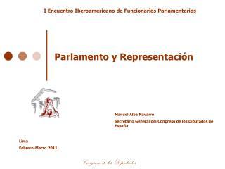 Parlamento y Representaci�n