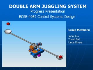 DOUBLE ARM JUGGLING SYSTEM Progress Presentation ECSE-4962 Control Systems Design