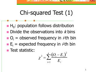 Chi-squared Test (1)
