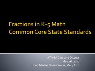 Fractions in K-5 Math Common Core State Standards