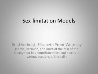 Sex-limitation Models