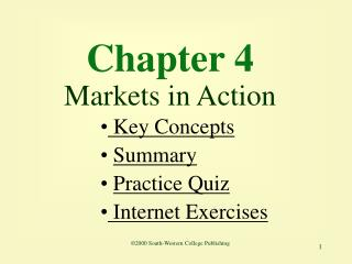Chapter 4 Markets in Action