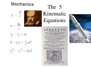 The  5 Kinematic Equations