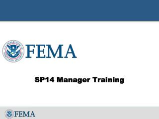 SP14 Manager Training