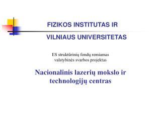 FIZIKOS INSTITUTAS IR