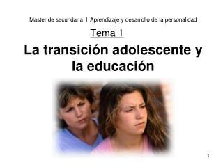 La transición adolescente y la educación