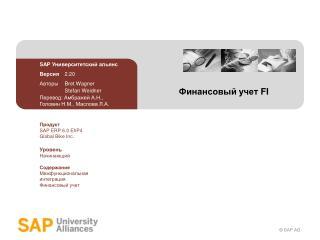 Финансовый учет  FI
