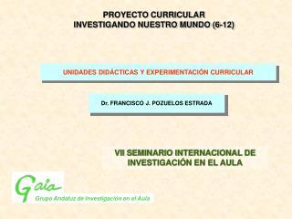 UNIDADES DIDÁCTICAS Y EXPERIMENTACIÓN CURRICULAR