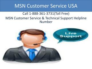 MSN Customer Service |@1-888-361-3731| MSN Technical Support
