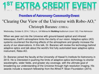 Frontiers of Astronomy Community  Event