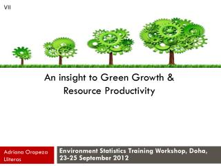 An insight to Green Growth & Resource Productivity