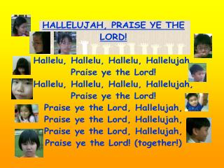 I�m singing for my LORD
