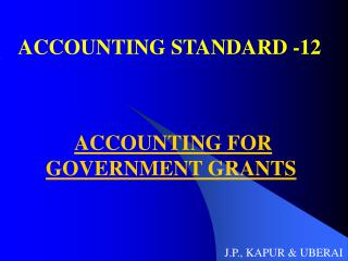 ACCOUNTING STANDARD -12