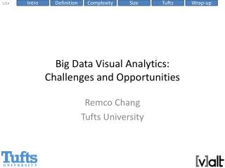 Big Data Visual Analytics:  Challenges  and Opportunities