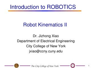 Robot Kinematics II