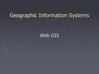 Geographical Information Systems GIS and Network Analysis