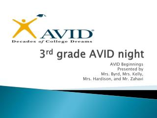 3 rd  grade AVID night