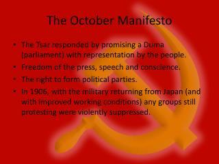 The October Manifesto