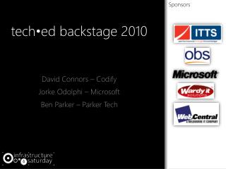 tech•ed  backstage 2010