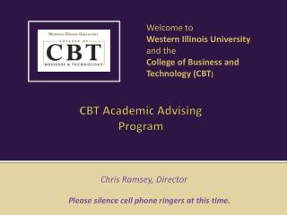 CBT Academic Advising Program