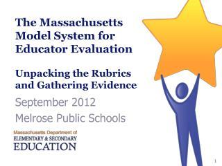 September 2012 Melrose Public Schools