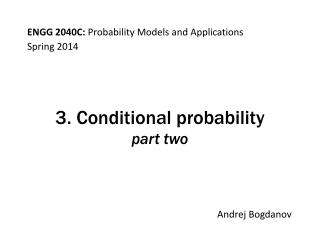 3. Conditional probability part  two