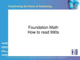 Foundation Math How to read 990s