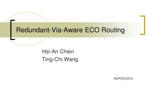 Redundant-Via-Aware ECO  Routing