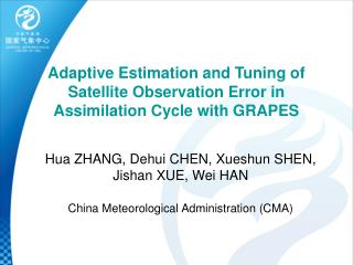 Adaptive Estimation and Tuning of Satellite Observation Error in Assimilation Cycle with GRAPES